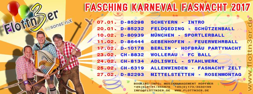 Flottn3er Fasching Karneval Fasnacht 2017