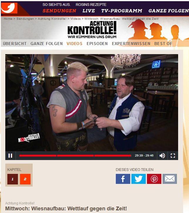 Flottn3er bei Kabel1 - Achtung Kontrolle, Wiesn Warm Up Party Hofbräu Berlin,